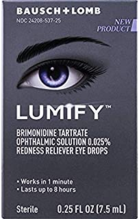 Lumify Redness Reliever Eye Drops, Great Size 2 Pack, 0.25 Ounce Each jzBlSk(2 X 7.5mL)