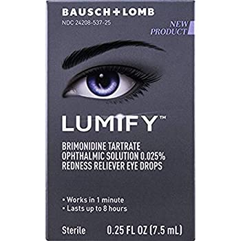 Lumify Redness Reliever Eye Drops 0.25 Ounce  Value Pack of 4