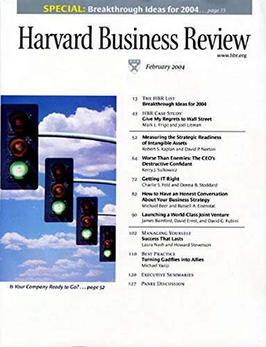 Harvard Business Review, March 2004 copertina