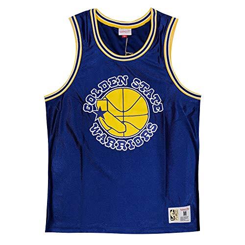 Mitchell & Ness Golden State Warriors Vintage Retro Dazzle Tank NBA Chaleco Azul azul XXL