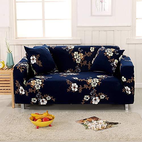 Funda de sofá con patrón de Costura geométrica y de Color, Utilizada para la Toalla del sofá de la Sala de Estar, Funda para Mascotas, Funda de sofá elástica A10 1 Plaza