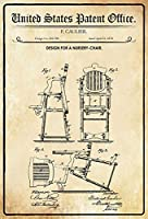 金属サインアルミサイン、子供用の椅子の仮面舞踏会デザインAS396金属おかしい警告サイン家の庭の私有財産の危険注意サインノベルティギフトアイデア