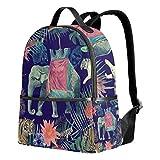 Mochila de elefante tropical para mujeres, adolescentes, niñas, bolso de moda, para viajes, universidad, casual, para niños