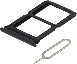MMOBIEL Dual Sim Card Tray Compatible with One Plus 6T 2018 6.41 inch (Mirror Black) incl Sim pin