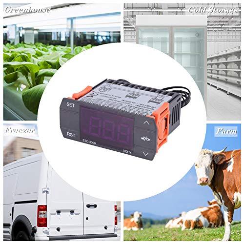 Termostato del controlador de temperatura digital con sensor STC-3000 110V-220V con sensor(110-220V10A)
