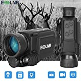 ESSLNB Night Vision Monocular 40mm Night Vision Infrared Scope for Night Hunting 656ft Digital Night Vision IR Camera with LCOS Screen 8GB TF Card Recording Image and Video Playback Function