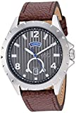 ESQ Men's Stainless Steel Watch w/ Brown Leather Strap FE/0070
