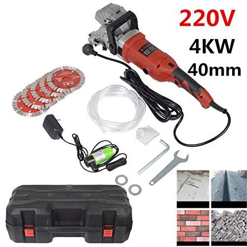 SISHUINIANHUA 220V Elektrische Mauernutfräse ~ Groove Schneidemaschine Wandstoßmaschine Stahlbetonschneidemaschine 4KW 40mm
