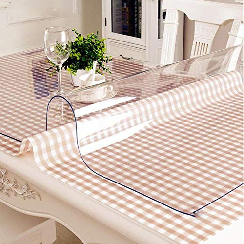Mantel de PVC transparente cubierta de plástico a prueba de aceite, mantel de mesa de comedor, cubierta de cristal suave de cocina de 1,0 mm