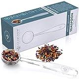 Teabloom Perfect Measure Loose Leaf Tea Spoon - Lead-Free and Heatproof Borosilicate Glass Tea Scoop