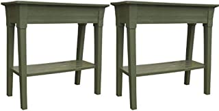 Adams Manufacturing 9303-01-3700 36-Inch Deluxe Garden Planter Sage Green, Set of 2 + Free Home Decor