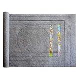 Tablero de rompecabezas Alfombrilla de rompecabezas portátil para almacenamiento de rompecabezas, hasta 1500 piezas de almacenamiento Accesorio de rompecabezas, superficie antideslizante, Gray
