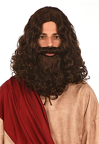 Kangaroo Costumes - Jesus Wig and Beard, No Color, Size One Size Fits Most