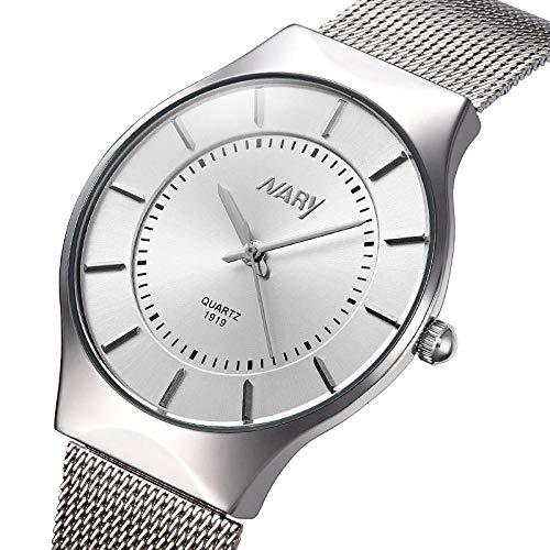 Reloj de Pulsera de Acero Inoxidable de diseñador para Hombre Relojes con Fecha de Moda -B