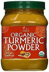 CERTIFIED USDA ORGANIC TUMERIC POWDER (CURCUMA LONGA) - 16oz (1 pound) Resealable Jar. Non-GMO. HIGH CURCUMIN CONTENT - We batch test our Turmeric Powder for Curcumin and we have a high 3%+ Curcumin content. This is the highest natural curcumin in an...