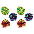 PetFavorites Mylar Crinkle Balls Cat Toys Interactive Crinkle Cat Toy Balls Independent Pet Kitten Cat Toys for Fat Real Cats Kittens Exercise, Soft, Light and Right Size