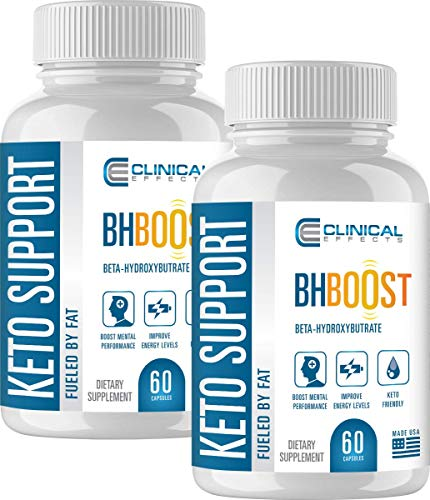 Clinical Effects: Keto Support BHBoost - Dietary Supplement for Keto Weight Support - 60 Capsules