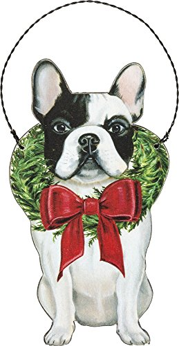 Primitives by Kathy Ornament - Christmas Frenchie Home Decor