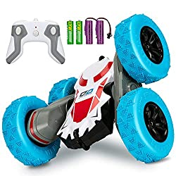 Veecort RC Cars Stunt Car Toy, 4WD 2.4Ghz Remote Control Car Double Sided Rotating Vehicles 360° Flips, Kids Toy Cars for Boys & Girls Birthday - Batteries Included