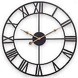 SKJIND - Reloj de pared grande para decoración del hogar (60 cm), diseño de números romanos