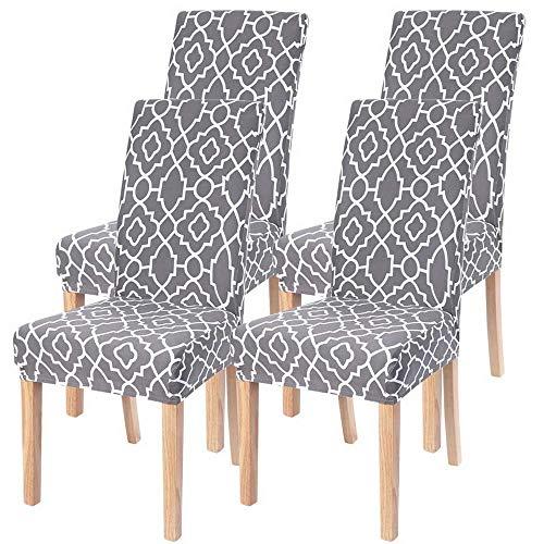 Silla Hogar Cover, Muy Fácil De Limpiar Duradera Fundas Elásticas Chair Covers,elasticas Y Modernas Diseño Jacquard Cubiertas De La Sillas Adecuado para El Hogar Boda Moderna Hotel Decor