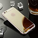 Sycode Coque pour iPhone 8/7,Silicone Housse pour iPhone 7,Ultra Mince Doux Coque en Effet Miroir pour iPhone 8/7-Or