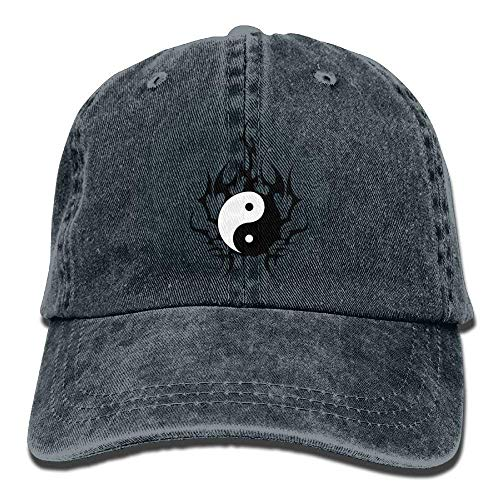 Hoswee Unisex Kappe/Baseballkappe, Destiny Yang Denim Hat Adjustable Male Washed Baseball Cap
