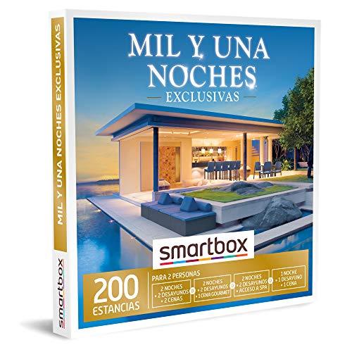 SMARTBOX - Caja Regalo - Mil y una Noches exclusivas - Idea de Regalo - 2 Noches con Desayuno y 1 o 2 cenas o SPA o 1 Noche con Desayuno y Cena para 2 Personas