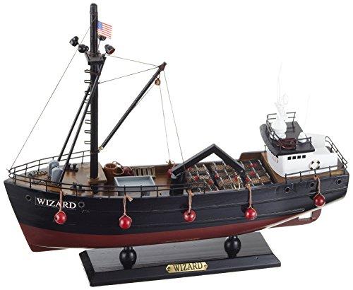 Unbekannt Sunny Toys 04006 Holz Fischerboot Krabbenkutter Circa 35 cm