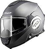 LS2, casco moto modulare VALIANT Titanio, S
