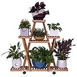 DNSJB Flor Rack Multi Nivel Flower Stand Estantes Bonsai Estante De Exhibición De Almacenamiento En Rack De Flores Bastidores Soporte De La Planta De Madera For Exterior Y Decoración Interior