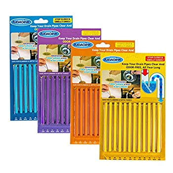 IUDAOIHK Drain Cleaner Sticks Keeps Drains and Pipes Clear and Odor As Seen On TV 4 Packs 48 pcs