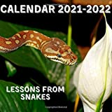 Lessons From Snakes Calendar 2021-2022: April 2021 - June 2022 Square Photo Book Monthly Planner Mini Calendar With Inspirational Quotes