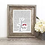 Gift for Him, Couple, or Her Wedding Song Gift, First Dance Lyrics, Personalized with Your Poem or Vows Choice
