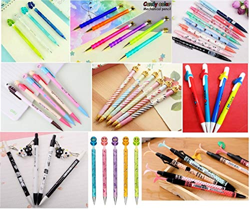 Jollin 12 Cute Korean Kawaii Mechanical Pencils With Erasers And Leading Refills Style Mixed