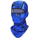 YOSUNPING Motorcycle Balaclava Breathable UV Sun Dust Windproof Face Mask Headwear - Cycling Motorcycle Riding ATV Bike Hunting Fishing Ski Snowboard for Men Women Blue