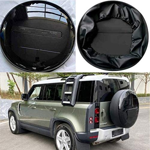 HEKA Gloosy 2021 new Black Max 61% OFF ABS Plastic Spare Fits Tyre Cover Tire Lan for