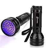 ESCO LITE 2 Pack UV Flashlight Black Light, 51 LED 395nm Ultraviolet Blacklight Detector for Dry Pet Urine and Bed Bug, Matching with Pet Odor Eliminator