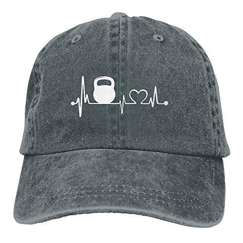 xinfub Gorra de béisbol Unisex Algodón Denim Hat Kettlebell Heartbeat Ajustable Snapback...