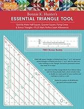 fast2cut Bonnie K. Hunter's Essential Triangle Tool: Quickly Make Half-Square, Quarter-Square, Flying Geese & Bonus Triangles - Plus Mark Perfect Seam ... - FREE Bonus Buddy Ruler (Fast2cut Templates)