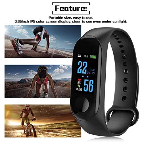 Fgjhfghfjghj M3 Unisex Health Tracker Smart Band Reloj Pulsera Pulsera Fitness Tracker Monitor Pulsera
