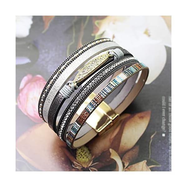 LightOnIt Boho Leather Wrap Bracelet 4