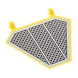 LEGO 1 x System Fahne gelb 5 x 6 mit Star Wars Aufkleber Gitter diagonal Schild Flagge Banner mit 2 Clips 75038 x1435pb025