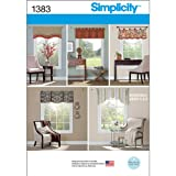 Simplicity 1383 Window Valances Sewing Patterns, 36'' to 40''