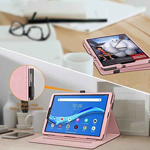 Fintie Hülle für Lenovo Tab M10 Full HD Plus 10.3 Zoll TB-X606, Multi-Winkel Betrachtung Folio Stand Schutzhülle mit Auto Schlaf/Wach Dokumentschlitze für Lenovo Smart Tab M10 Plus Full HD, Roségold