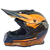Casco de Motocicleta Cubierta Completa Cuatro Temporadas Off-Road Casco de Moto Off-Road Racing Casco de Pedal de Descenso-Bright Black KTM_S