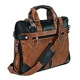 Storite PU Leather 14 inch Laptop Shoulder Messenger Sling Office Bag for Men