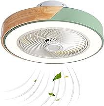 Puhui 20 inch LED-plafondventilator met verlichting, zeer stil, moderne houten ventilator, plafondlamp met afstandsbedieni...