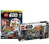 Lego 75310 Star Wars Duell sobre Mandalore + libro Lego Star Wars nº 73 (cómics, póster) con minifiguras Rey y BB-8