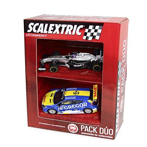 Scalextric Original - Pack Dúo Surtido 2 (F1 McLaren Button Deco 2014 - Renault Megane Trophy Verschuur) (Fábrica de Juguetes A10168S300)
